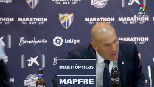 """بالفيديو.. زيدان يغرق فى """" البيرة"""" من نجوم ريال مدريد بالمؤتمر الصحفى"""
