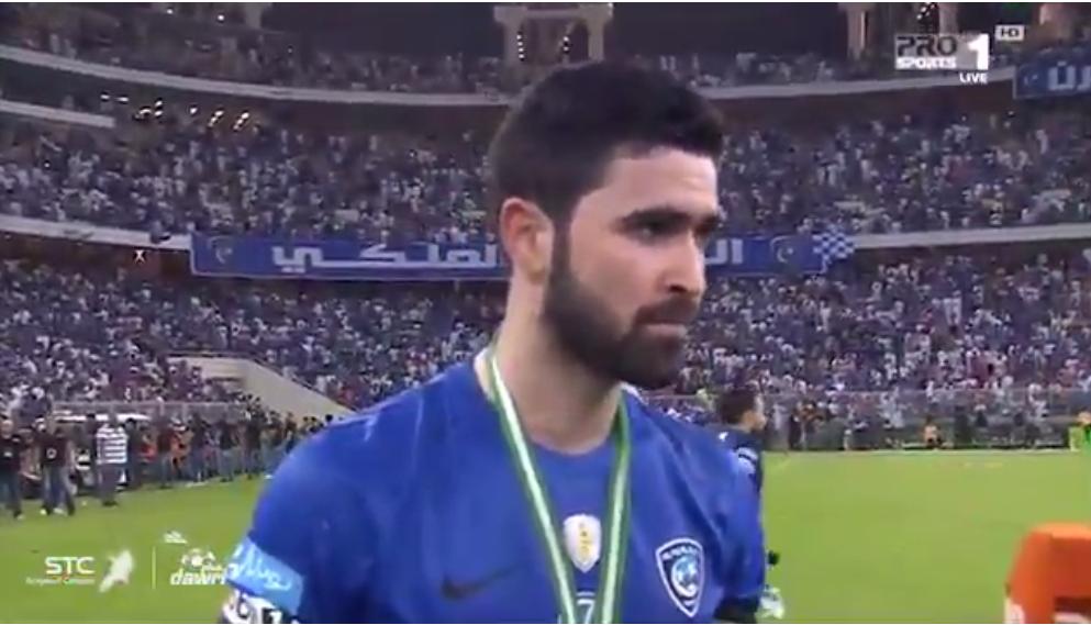 بالفيديو: تعليق  لاعب الهلال  عمر خريبين عن  عمر السومة