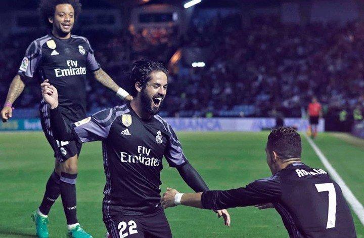 """بالفيديو : ريال مدريد يسحق  """"فيغو"""" بأربعة أهداف"""