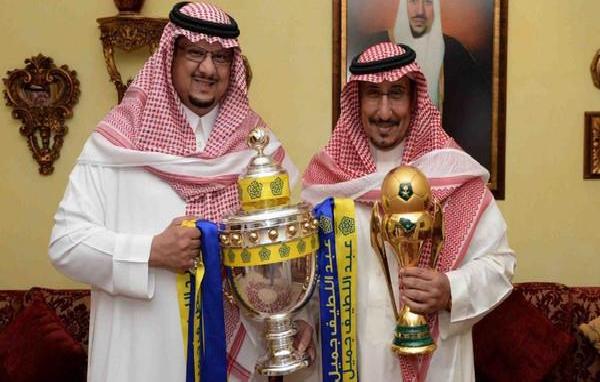 لقاء يجمع رئيس النصر بالأمير مشعل بن سعود لبحث كرسي الرئاسة