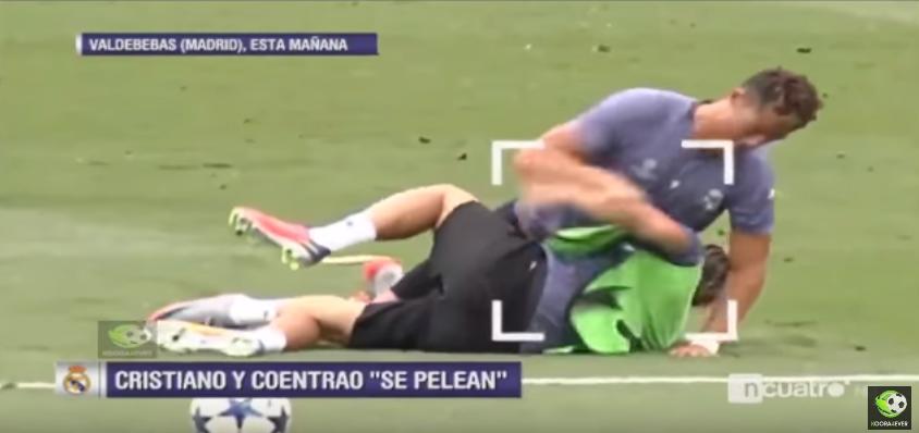 شاهد.. مشاجرة كريستيانو رونالدو وكونتراو أثناء تدريبات ريال مدريد