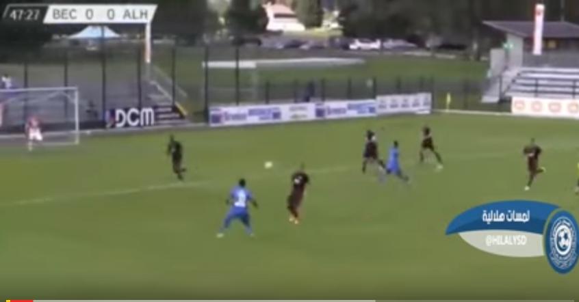 بالفيديو..لمسات لاعبين الهلال الجدد ضد بنيڤيتو