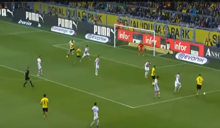 بالفيديو ..أهداف مباراة بوروسيا دورتموند ( 5 – 0 ) كولن الدوري الالماني