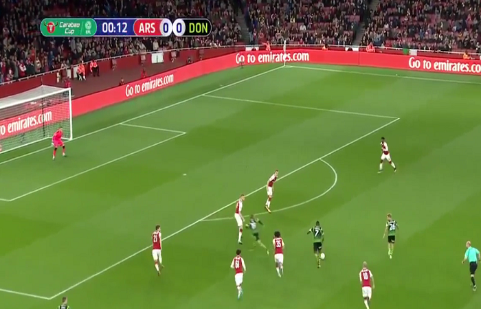 فيديو .. هدف مباراة أرسنال (1-0) دونكاستر في كأس كاراباو (الرابطة الإنجليزية)