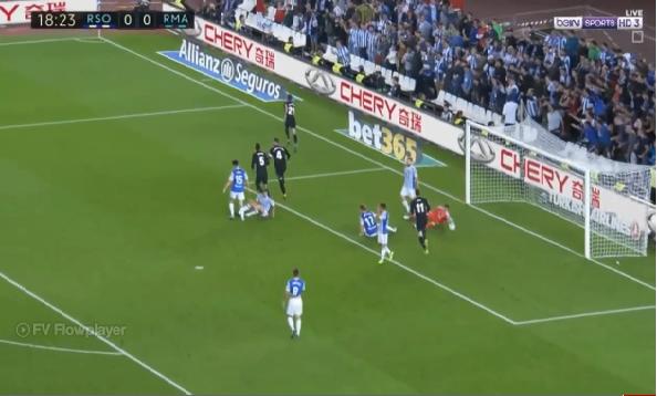 بالفيديو.. شاهد ريال مدريد يتجاوز الغيابات ويسحق فريق سوسيداد بثلاثة أهداف