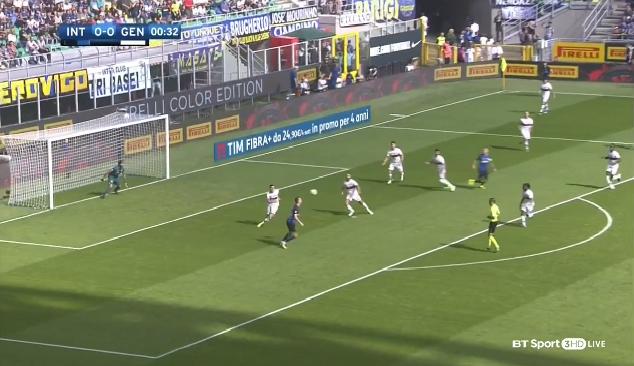 بالفيديو.. إنتر ميلان يقهر جنوة ويحتل المركز الثالث في ترتيب الدوري الإيطالي