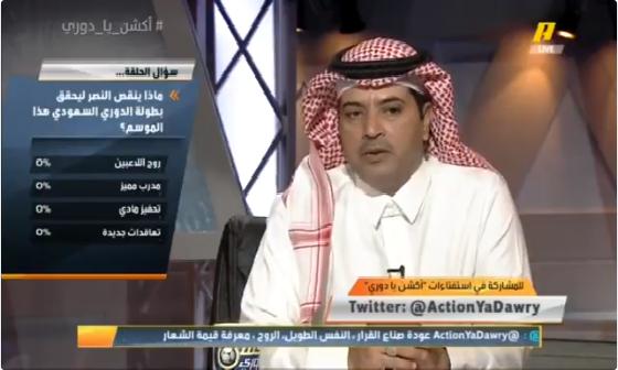 بالفيديو.. عبدالله بن زنان: الوضع المالي في نادي النصر ليس كارثي!