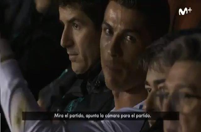 """ماذا قال رونالدو """"الغاضب"""" عند خروجه من أرضية الملعب ؟"""
