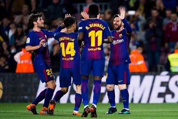 بالفيديو.. برشلونة يكتسح إشبيلية بخماسية ويتوج بطلاً لكأس ملك إسبانيا