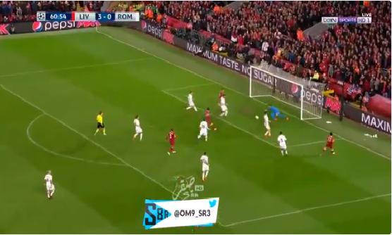 بالفيديو.. فيرمينو يحرز الهدف الرابع لليفربول في شباك روما