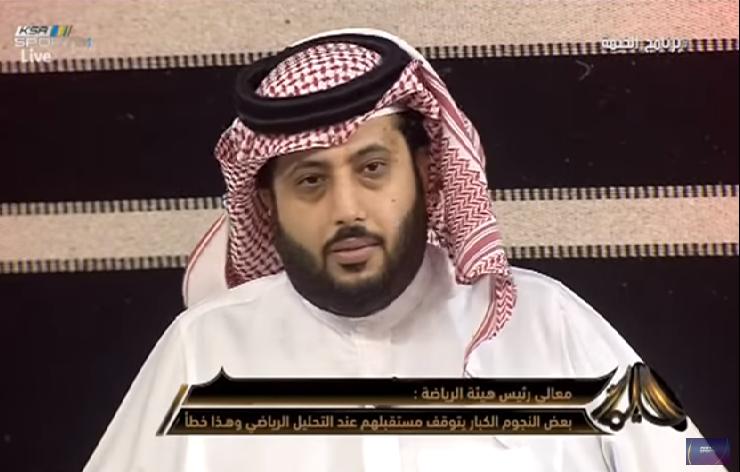 بالفيديو.. تركي آل الشيخ : إذا بغينا لاعب بكلم اللي يورد الماء!