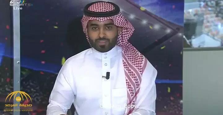 """شاهد .. """"آل الشيخ"""" منتقداً مذيع قناة """"KSA SPORTS"""" أثناء تغطية نهائي كأس الملك : """"خرب كل مفاجآت الحفل!"""""""