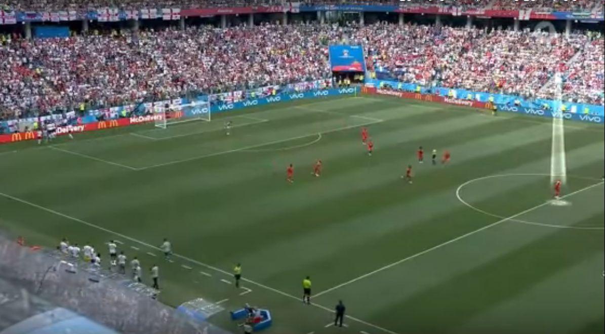 شاهد..لقطة غريبة للاعبي بنما في مباراتهم أمام انجلترا