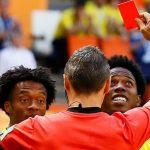 بسبب البطاقة الحمراء..لاعب كولومبيا مهدد بالقتل!