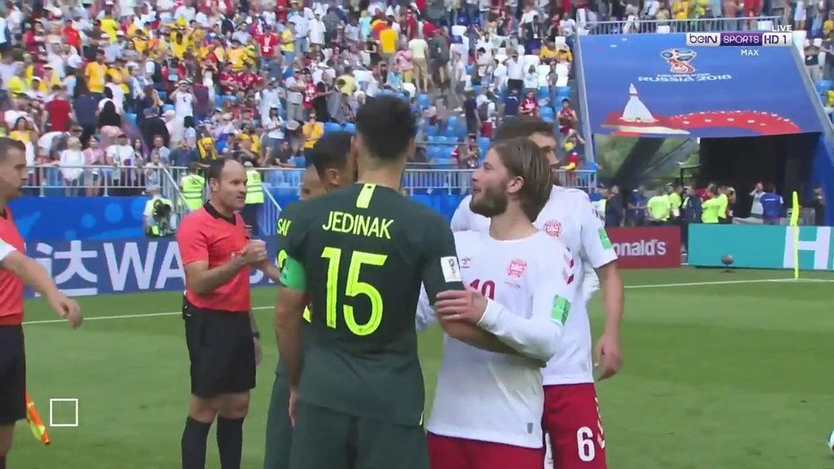 التعادل يحسم مباراة الدنمارك واستراليا