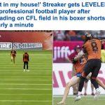 """شاهد بالفيديو والصور..ضربة قوية """"مفاجئة"""" من أحد اللاعبين لمشجع تواجد في أرض الملعب!"""