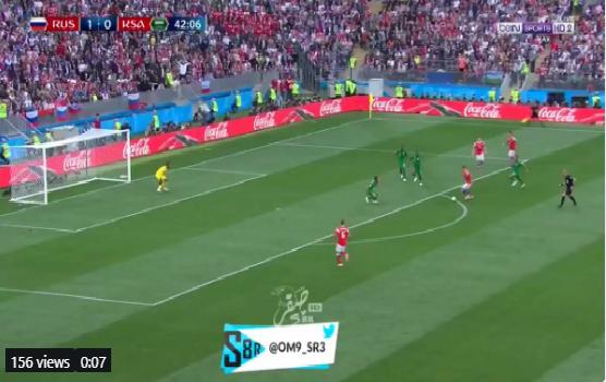 بالفيديو.. المنتخب الروسي يضيف الهدف الثاني في مرمى السعودية بعد خطأ دفاعي كارثي