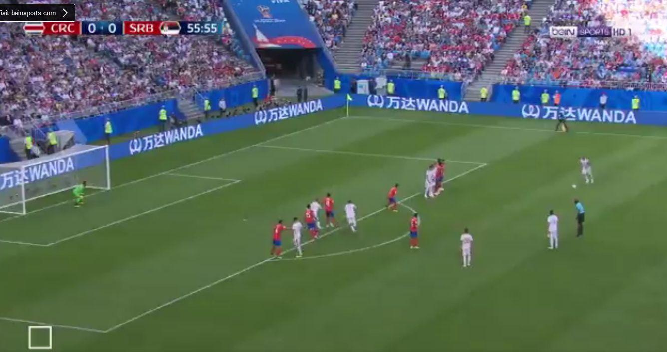 بالفيديو..صربيا تتقدم بهدف من كرة ثابتة بطريقة ولا اروع!