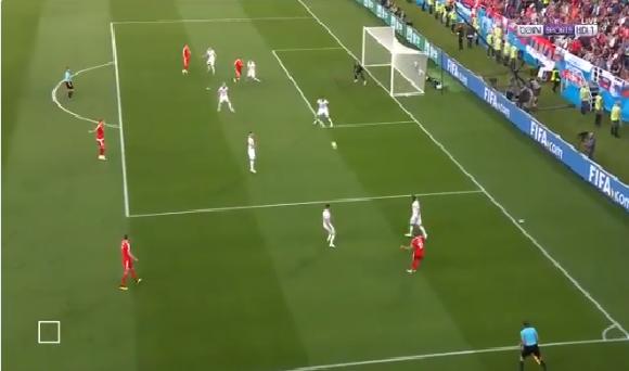 بالفيديو.. صربيا تسجل الهدف الأول في شباك سويسرا