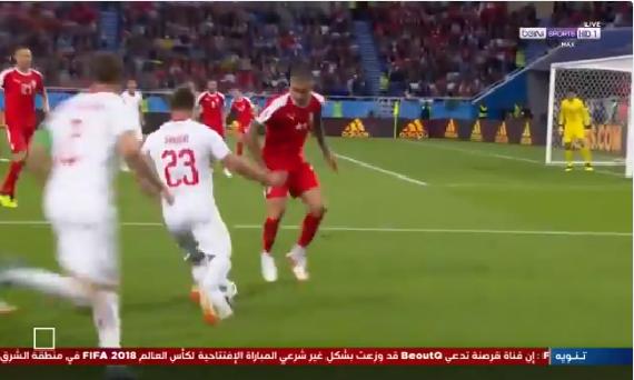 بالفيديو.. العارضة تمنع فرصة هدف محقق لـسويسرا