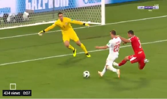 بالفيديو.. سويسرا تسجل الهدف الثاني في شباك صربيا