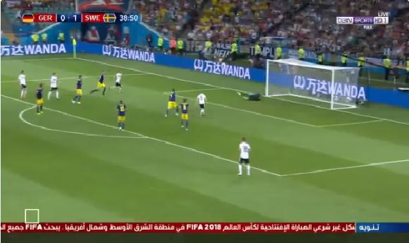 بالفيديو.. حارس السويد يتألق في التصدي لفرصة هدف محقق لألمانيا