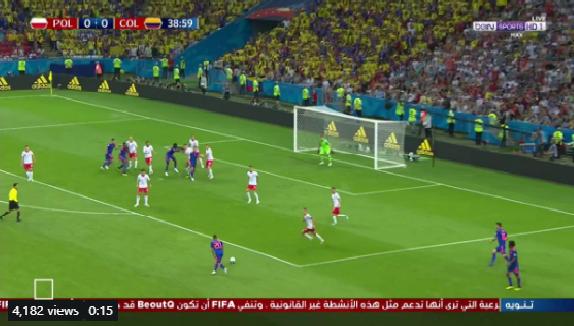 بالفيديو.. كولومبيا تسجل الهدف الأول في شباك بولندا