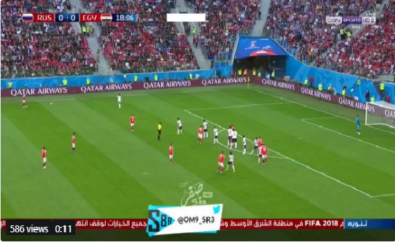 بالفيديو.. فرصة هدف محقق تضيع من المنتخب الروسي