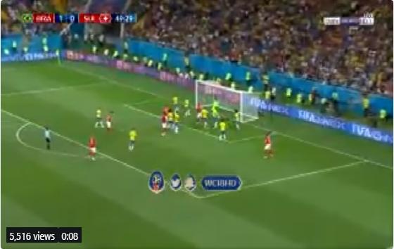 بالفيديو.. سويسرا تسجل هدف التعادل في مرمى البرازيل