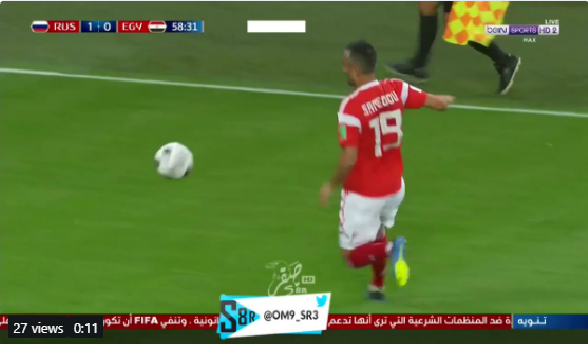 بالفيديو.. روسيا تسجل الهدف الثاني في مرمى مصر