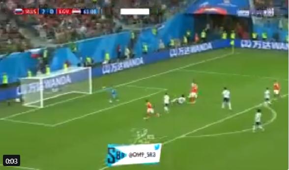 بالفيديو.. روسيا تضيف الهدف الثالث في شباك المنتخب المصري