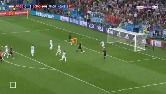 بالفيديو.. كرواتيا تسجل الهدف الثالث في شباك الأرجنتين