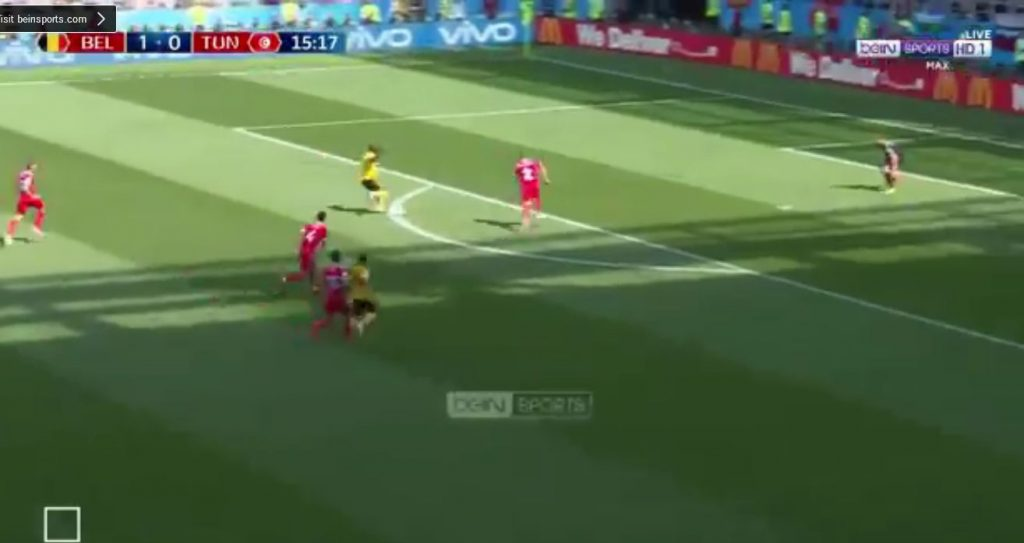 بالفيديو..الهدف الثاني للمنتخب البلجيكي في شباك تونس