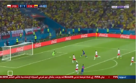 بالفيديو.. كولومبيا تسجل الهدف الثاني في مرمى بولندا