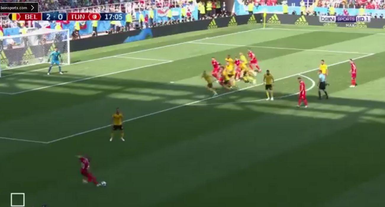 بالفيديو..تونس تسجل الهدف الأول في شباك بلجيكا