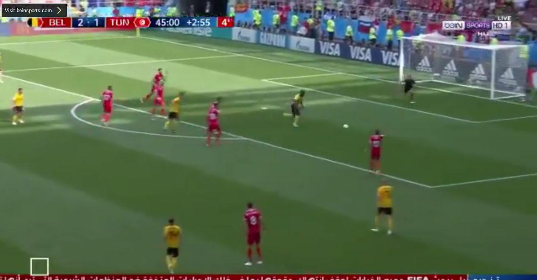 بالفيديو..الهدف الثالث لبلجيكا في شباك تونس