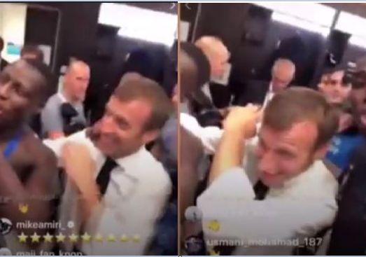 ماكرون يخلع جبة الرئيس ويتقمص شخصية بوغبا