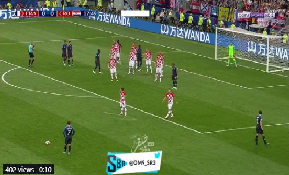 بالفيديو.. فرنسا تسجل الهدف الأول في شباك كرواتيا