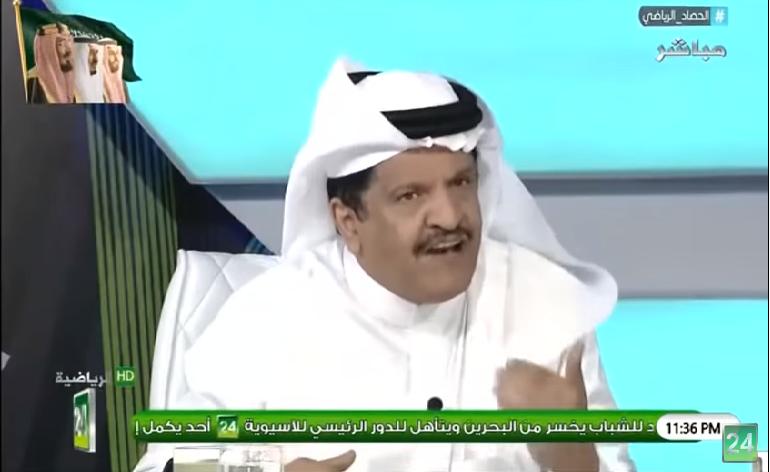"""بالفيديو..جستنيه : لا يوجد لاعب في المملكة اصبح اداري ثم مدرب ثم رئيس للنادي الا """"سامي الجابر"""""""