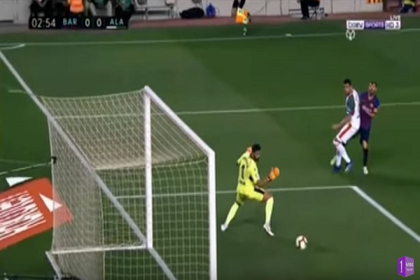 بالفيديو.. شاهد أهداف مباراة برشلونة وألافيس في الدوري الإسباني