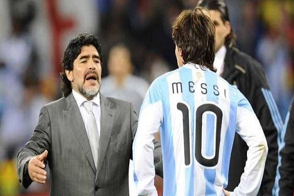 مارادونا يرفض مقارنته بميسي وينصحه بأمر غريب!