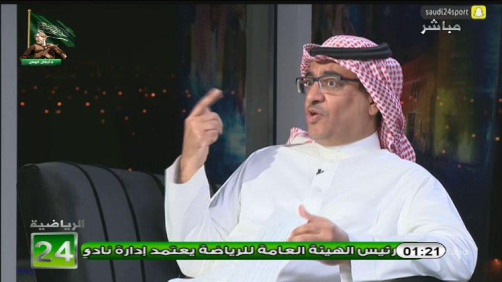 """بالفيديو..الجعيلان: """"سامي الجابر"""" هو الهداف التاريخي للبطولة العربية والرشيدي يرد: مع اي فريق؟!"""