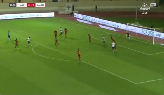 بالفيديو.. أحمد موسى يسجل الهدف الأول للنصر في شباك القادسية