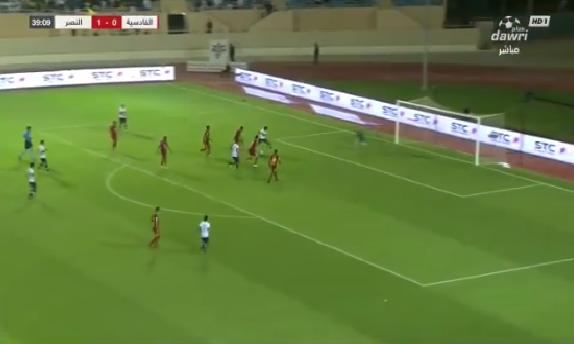 بالفيديو.. أحمد موسى يضيف الهدف الثاني للنصر في مرمى القادسية