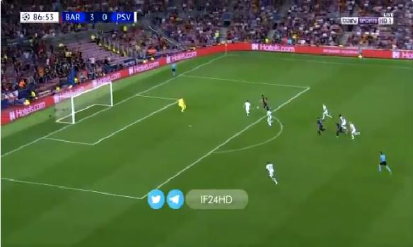 بالفيديو.. ميسي يسجل الهدف الرابع لبرشلونة في مرمى ايندهوفن