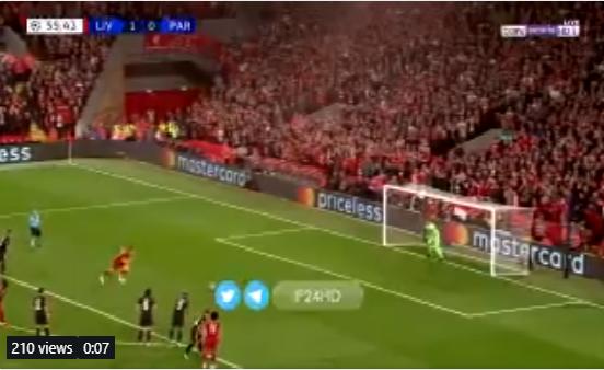 بالفيديو.. ميلنر يحرز الهدف الثاني لليفربول في شباك باريس سان جيرمان