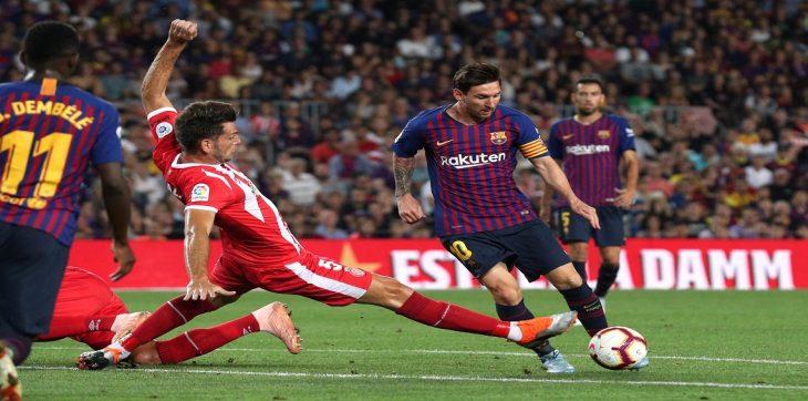 بالفيديو..هدف مباراة برشلونة وجيرونا.. ميسي يتقدم للفريق الكتالوني