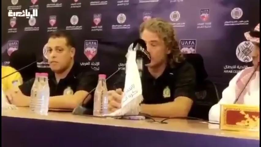 بالفيديو .. مدرب النصر يوجه رسالة إلى جماهير الفريق قبل مباراة الجزيرة