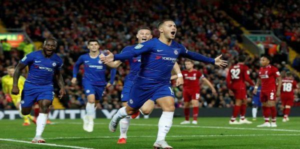 """بالفيديو.. """"تشيلسي"""" يطيح بـ""""ليفربول"""" ويتأهل لثمن نهائي كأس الرابطة الإنجليزية"""