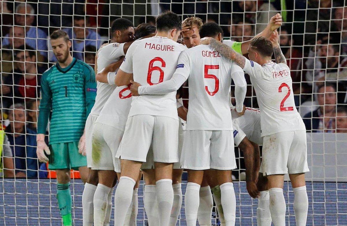 بالفيديو.. إنجلترا تثأر من إسبانيا بثلاثية وتنعش آمالها في دوري الأمم الأوروبية